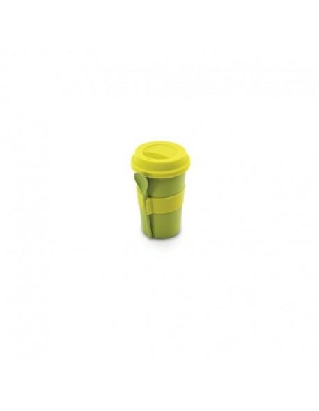 Kubek do kawy z łyżeczką COOK (zielony)