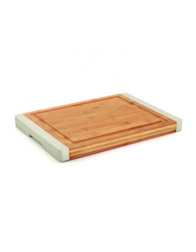Profesjonalna deska do krojenia z bambusa (Szara)