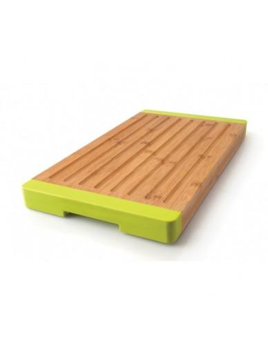 Bambusowa deska ze żłobieniami 40 cm x 22 cm x 3 cm