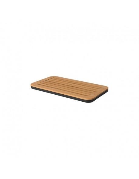 Bambusowa deska do krojenia pieczywa z tacą RON 38 cm x 22 cm x 2,5 cm