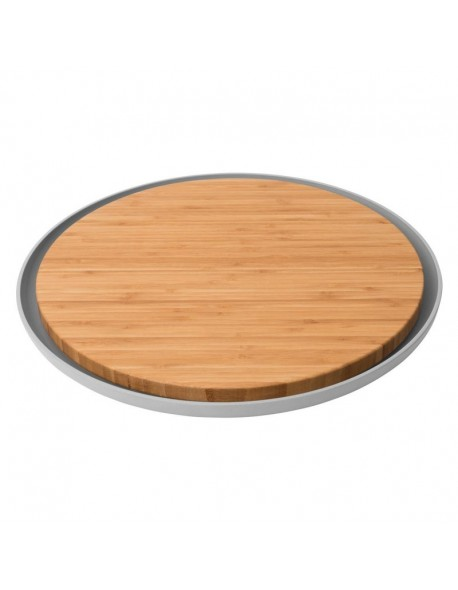 Bambusowa deska do krojenia z tacą